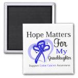 Hope Matters For My Granddaughter - Colon Cancer Fridge Magnets