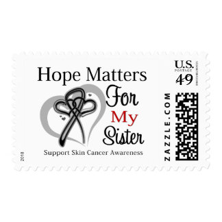 Hope Matters For My Sister - Skin Cancer Postage Stamps