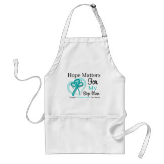 Hope Matters For My Step-Mom - Ovarian Cancer Adult Apron