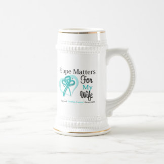 Hope Matters For My Wife - Ovarian Cancer Beer Stein