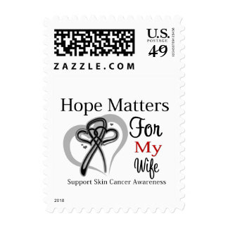 Hope Matters For My Wife - Skin Cancer Stamp