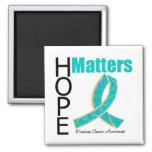 Hope Matters Ovarian Cancer (Jeweled Ribbon) Fridge Magnet