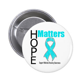Hope Matters Ribbon Addiction Recovery Awareness 2 Inch Round Button