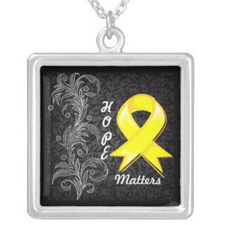 Hope Matters Ribbon Bladder Cancer Custom Necklace