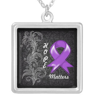 Hope Matters Ribbon GIST Cancer Personalized Necklace