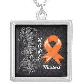 Hope Matters Ribbon Leukemia Necklaces