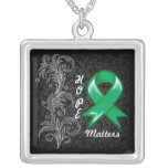 Hope Matters Ribbon Liver Cancer Personalized Necklace