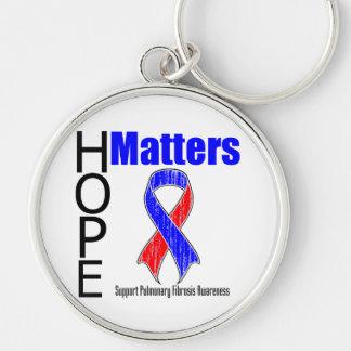 Hope Matters Ribbon Pulmonary Fibrosis Key Chains