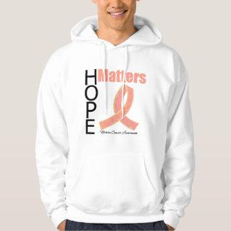 Hope Matters Uterine Cancer (Jeweled Ribbon) Hoodie