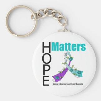 Hope Matters v2 Domestic Violence Keychain