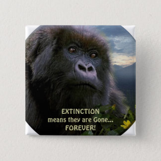 """HOPE"" Mountain Gorilla anti Extinction Button"