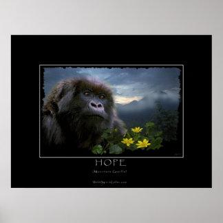 HOPE Mountain Gorilla Wildlife Art Print