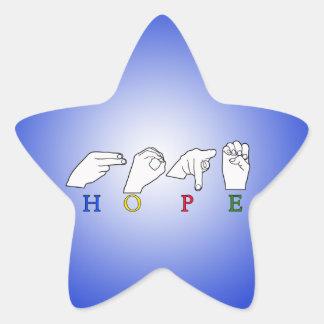 HOPE NAME ASL FINGER SPELLED FEMALE STAR STICKERS