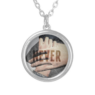 Hope Never Drowns Silver Plated Necklace