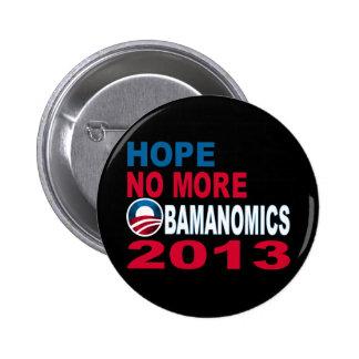Hope No More Obamanomics 2013 Pins