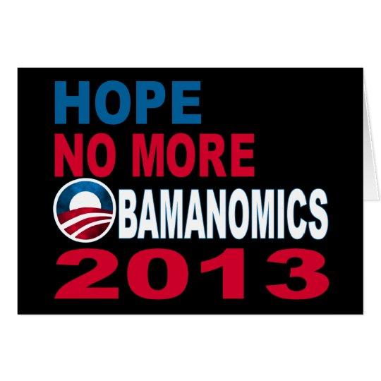 Hope No More Obamanomics 2013 Card