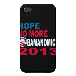 Hope No More Obamanomics 2013 iPhone 4 Cover
