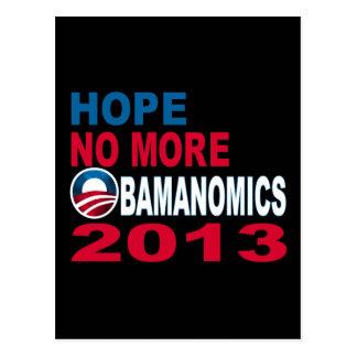 Hope No More Obamanomics 2013 Post Card