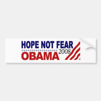 Hope Not Fear Obama 08 Car Bumper Sticker