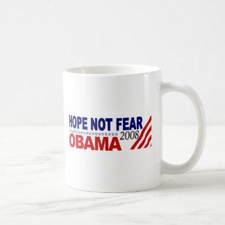 Hope Not Fear Obama 08 Coffee Mug