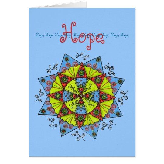 Hope - Note card (light blue)