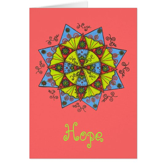 Hope - Notecard (deep salmon)