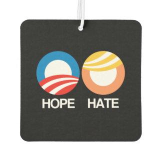 HOPE (Obama) vs. HATE (Trump) Air Freshener