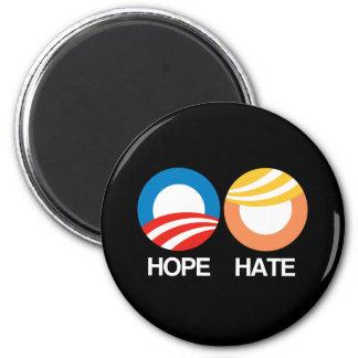 HOPE (Obama) vs. HATE (Trump) Magnet