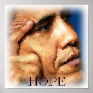 HOPE, Obama Watercolor Painting Print