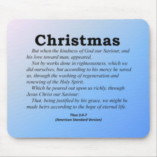 Hope of Eternal Life Christmas Titus 3-4 Mouse Pad
