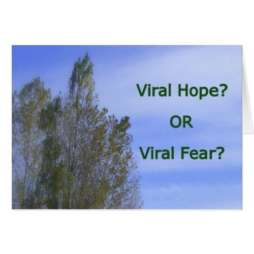 Hope or Fear Quote Product Greeting Card