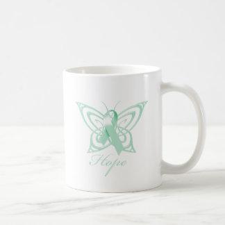Hope Ovarian Cancer Awareness Butterfly Coffee Mug