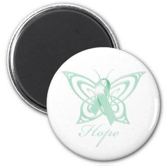 Hope Ovarian Cancer Awareness Butterfly Magnet