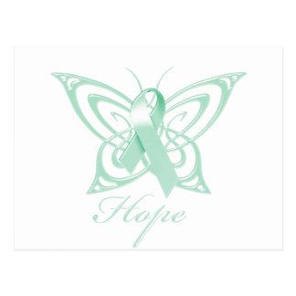 Hope Ovarian Cancer Awareness Butterfly Postcard