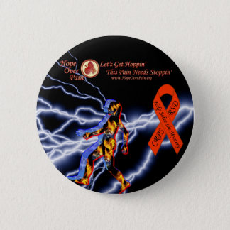 Hope Over Pain Black Lightning CRPS/RSD Mystery Button