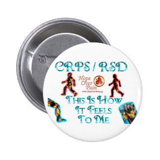 Hope Over Pain CRPS RSD This is how it feels to me Button