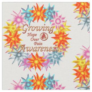 Hope Over Pain Growing Awareness Wreath Fabric