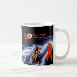 Hope Over Pain Logo Black Lightning CRPS/RSD Myste Classic White Coffee Mug