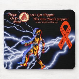 Hope Over Pain Logo Black Lightning CRPS/RSD Myste Mouse Pad