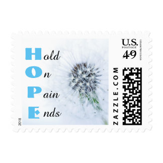 HOPE Pain Ends Blue Stamp