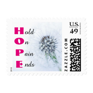 HOPE Pain Ends Pink Stamp