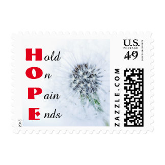 HOPE Pain Ends Red Stamp