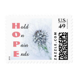 HOPE Pain Ends Salmon Pink Stamp