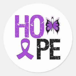 Hope Pancreatic Cancer Awareness Round Stickers
