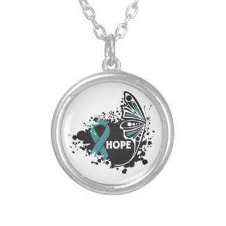 Hope PCOS Butterfly Round Pendant Necklace