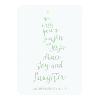 Hope Peace Joy and Laughter Holiday Photo Card