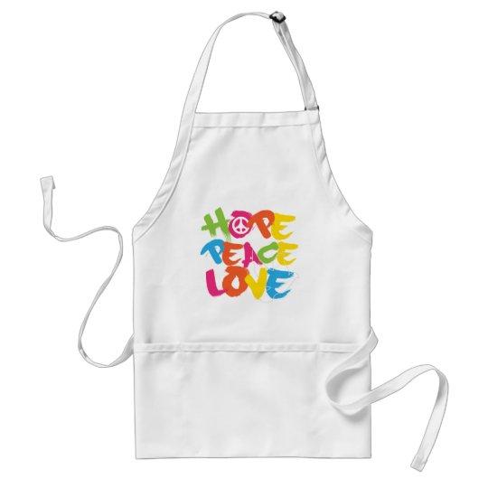 Hope Peace Love Adult Apron