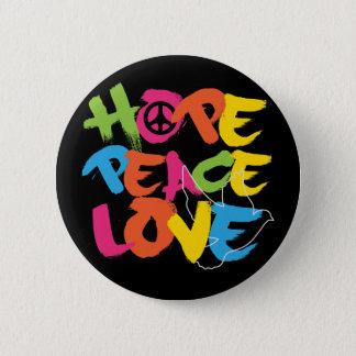 Hope Peace Love Button