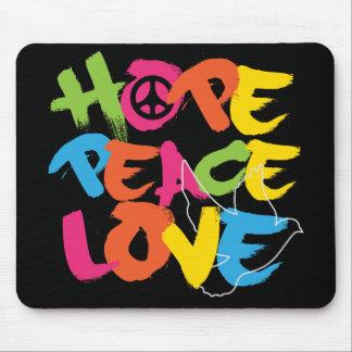 Hope Peace Love Mouse Pad