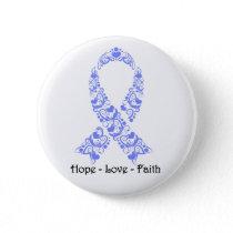 Hope Periwinkle Awareness Ribbon Pinback Button